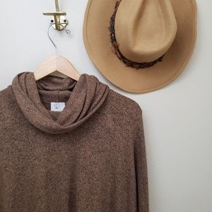 Anthropologie Sweaters - Anthro Postmark Brown Cowl Neck Tunic Sweater